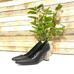 Calvin Klein|Closed Toe Heel|Black White Heel| 7.5